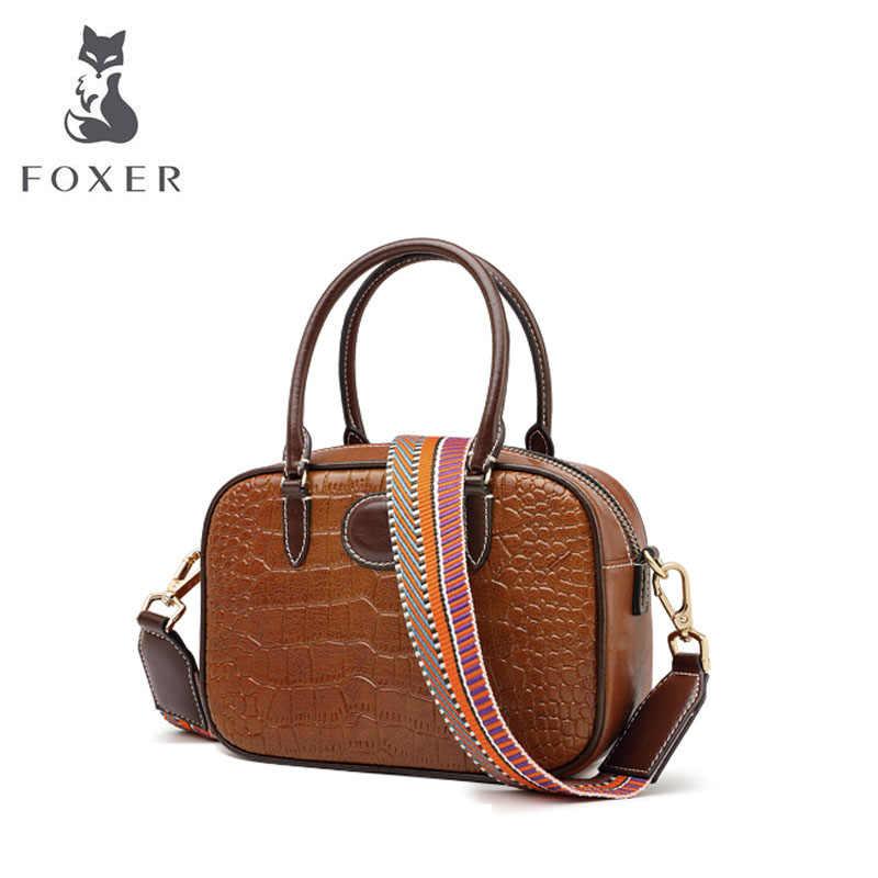 Foxer bolsa de couro feminina moda saco de crocodilo padrão bolsas de luxo bolsas femininas sacos de designer famosa marca feminina sacos