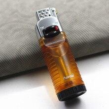 Creative Torch Floating Fire Flint Lighter Grinding Wheel Free Butane Gas Inflatable Cigar Cigarette