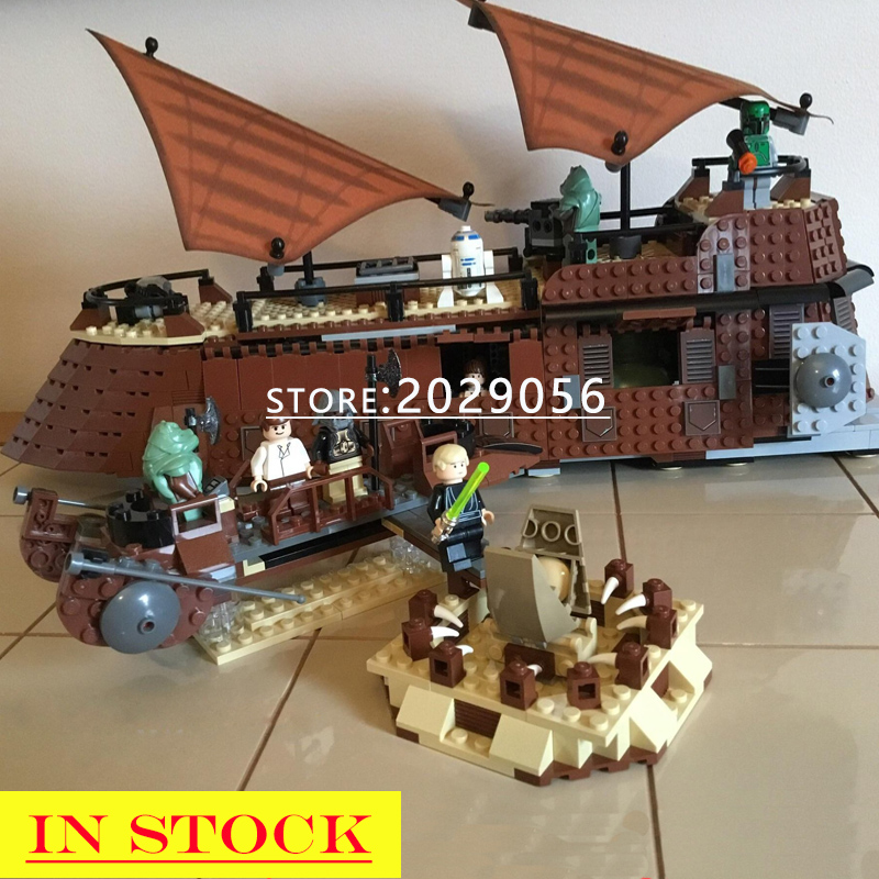 05090 In Stock Star Wars The Jabba`s Sail Barge Sailing Ship 821Pcs Ship-styling Building Blocks Compatible With 6210 Toys Kids