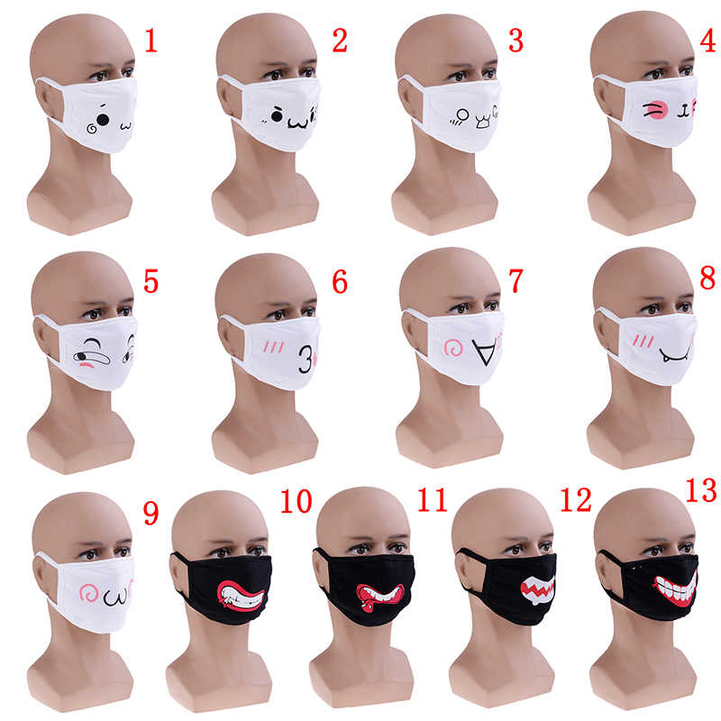 1PC Unisex di Stile Coreano Kpop Cotone Antipolvere Bocca Viso Maschera Orso Nero Cycling Anti-Polvere di Cotone Del Viso Protezione maschere di copertura