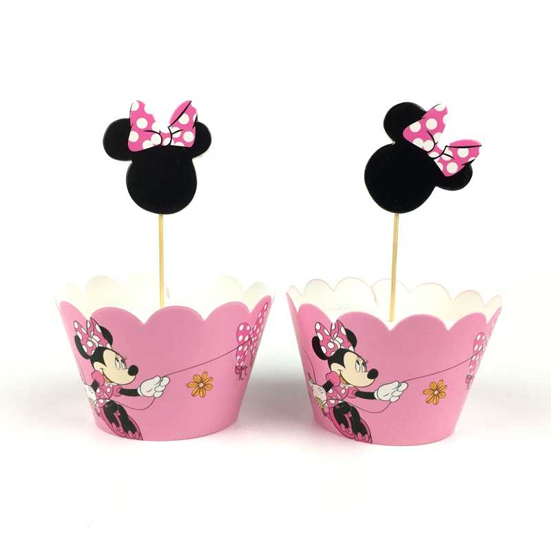 Astonishing 24Pcs Baby Shower Kids Favors Minnie Mickey Mouse Decoration Cake Funny Birthday Cards Online Inifofree Goldxyz