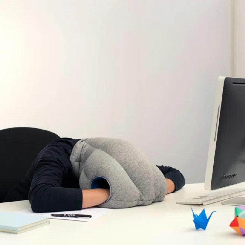 Nap Pillow Seat Cushion Headrest Travel Neck Pillow Ostrich Nap Pillow