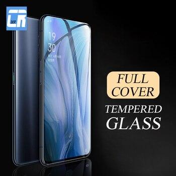 Перейти на Алиэкспресс и купить 9H полное покрытие краев закаленное стекло для OPPO Reno 10x Zoom K3 A1K Защита экрана для Realme 5 XT X Lite F11 профессиональная защитная пленка