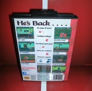 Image 2 - MD 게임 카드 Splatter House Part 3 US 커버 박스 및 설명서 포함 Sega Megadrive Genesis 비디오 게임 콘솔 16 비트 MD 카드