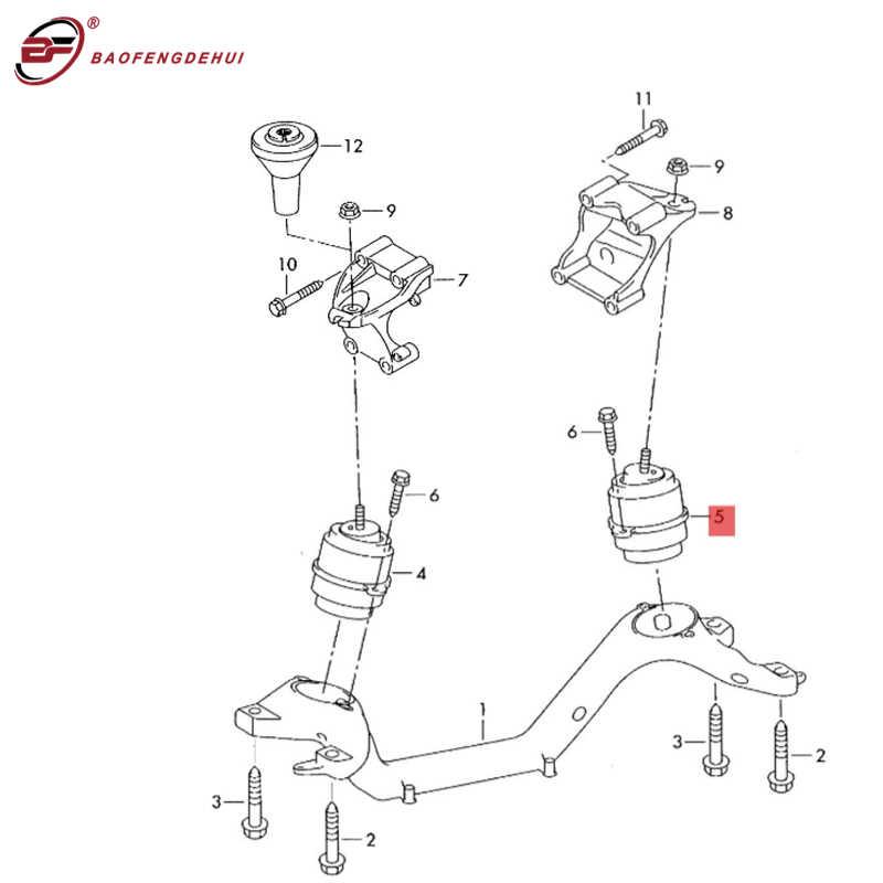 Крепление Двигателя 4,2 л 8 цилиндровый дизельный BTR опора двигателя для Audi Q7 7L8199131B левая = правая