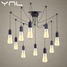 Vintage araña colgante lámpara longitud ajustable Retro E27 Edison 2M Loft decorativo LED iluminación del hogar