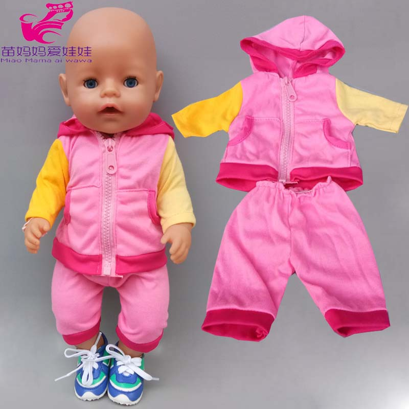 43cm New Born Baby Doll Hoody Coat For Baby Doll Clothes 18 Inch American OG Girl Doll Jacket