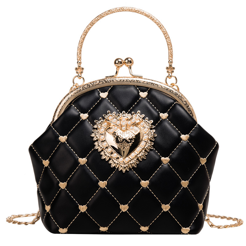Women's Handbags Elegant Shell Shoulder Bags PU Letter Ladies Top-handle Strap Chains Casual Crossbody Bags Fashion Female Totes