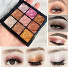 9 Colors Professional Long Lasting Eye Shadow Glitter Eyeshadow Shiny Eye Cosmetics Makeup Shimmer Eyes Palette Shadows Beauty