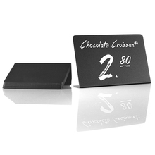 2021New 10 Pack Rustic Acrylic Mini Chalkboard Signs - Easy to Write and Wipe Out - for Liquid Chalk Markers and Chalk for Party