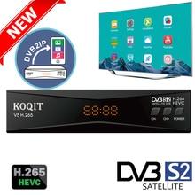 Koqit DVB2IP MeeCast H.265 Dvb S2 ricevitore satellitare DVB S2 HEVC recettore Cs IPTV Decoder finder Live Mirror schermo Cast Biss VU