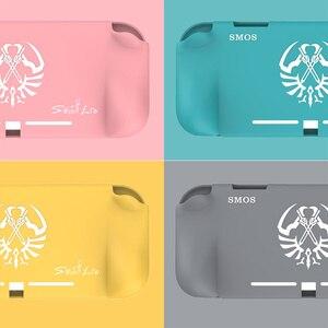 Image 1 - Силиконовый чехол для nintendo Switch Lite, розовый милый цветной чехол, задняя крышка для nintendo Switch Lite, аксессуары для игровой консоли