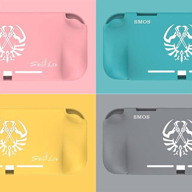 Силиконовый чехол для nintendo Switch Lite, розовый милый цветной чехол, задняя крышка для nintendo Switch Lite, аксессуары для игровой консоли