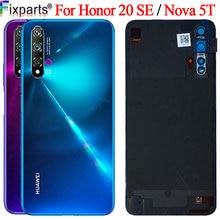 Nowy dla Huawei Nova 5t pokrywa baterii Honor 20 se obudowa tylna obudowa z powrotem wymienić telefon dla Huawei Honor 20se pokrywa baterii