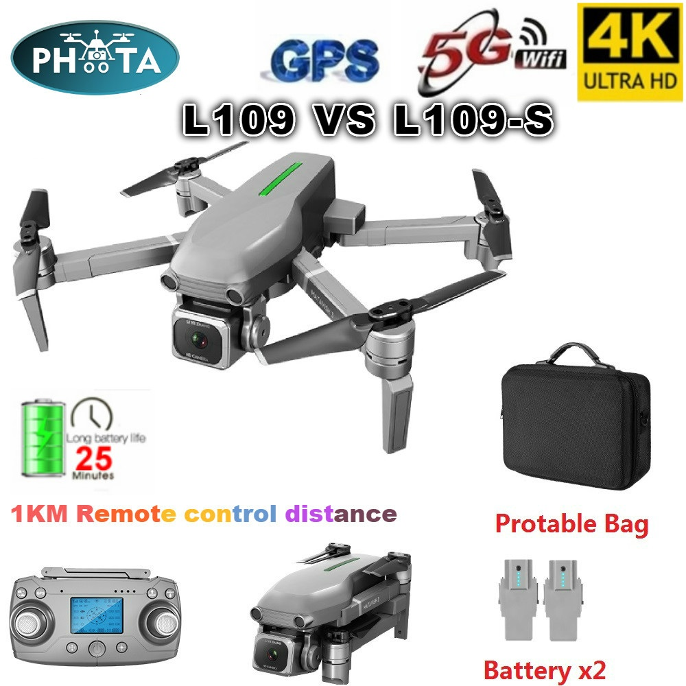 L109 GPS Drone 4K with Camera HD 5G WIFI quadcopter drone profissional quadrocopter seflie dron Mini drones 1KM long distance