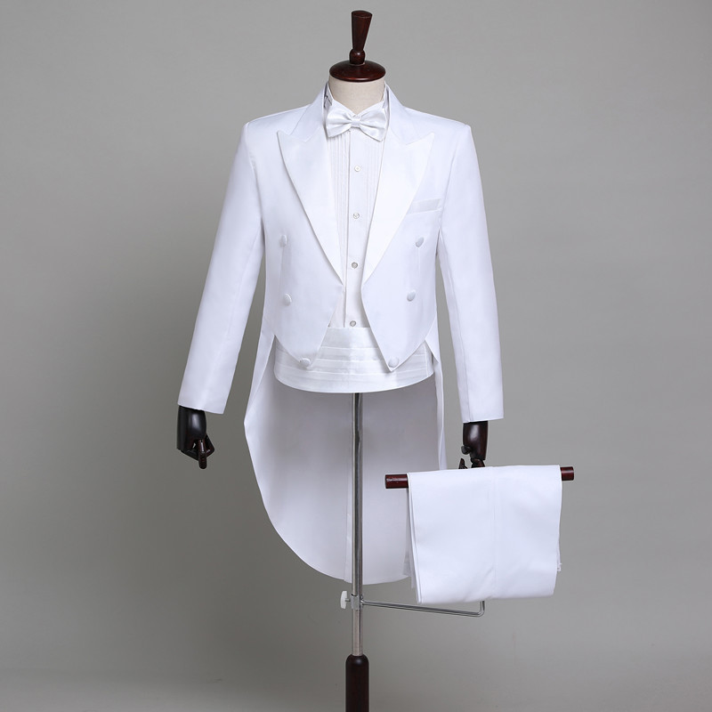 ₧Closeout DealsPopodion Groom Wear Wedding-Suits for Men Black White WAS10213 Tuxedo Sit Men's