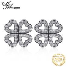 Jewelrypalace 925 Sterling Silver Openwork Dazzling Clovers Stud Earrings Gifts For Women Anniversary Gifts Fashion Jewelry New недорого