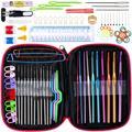 Camisola agulha de tricô conjunto de ferramentas 22 metal conjunto de crochê com gadgets DIY 100 conjuntos de ferramentas de mão-tecido