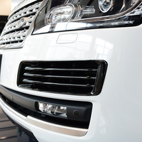 Araba Styling krom ön tampon sis farı ızgarası kapak Trim sis lambası çerçeve için Land Rover Range Rover Vogue L405 2013- 2017