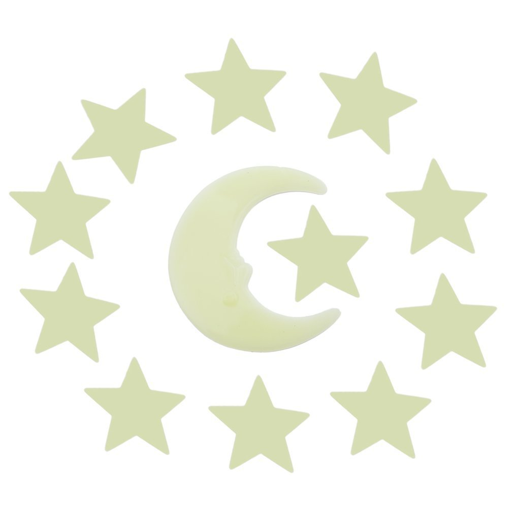 Stars Moon Glow Style In The Dark DIY Luminous Fluorescent Decal Wall Stickers Home Kids Rooms Bedroom Wall Decoration