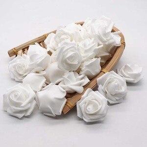 Image 3 - 4cm 30 adet/grup büyük PE köpük gül yapay çiçek kafa ev düğün dekorasyon DIY Scrapbooking çelenk sahte dekoratif Ros