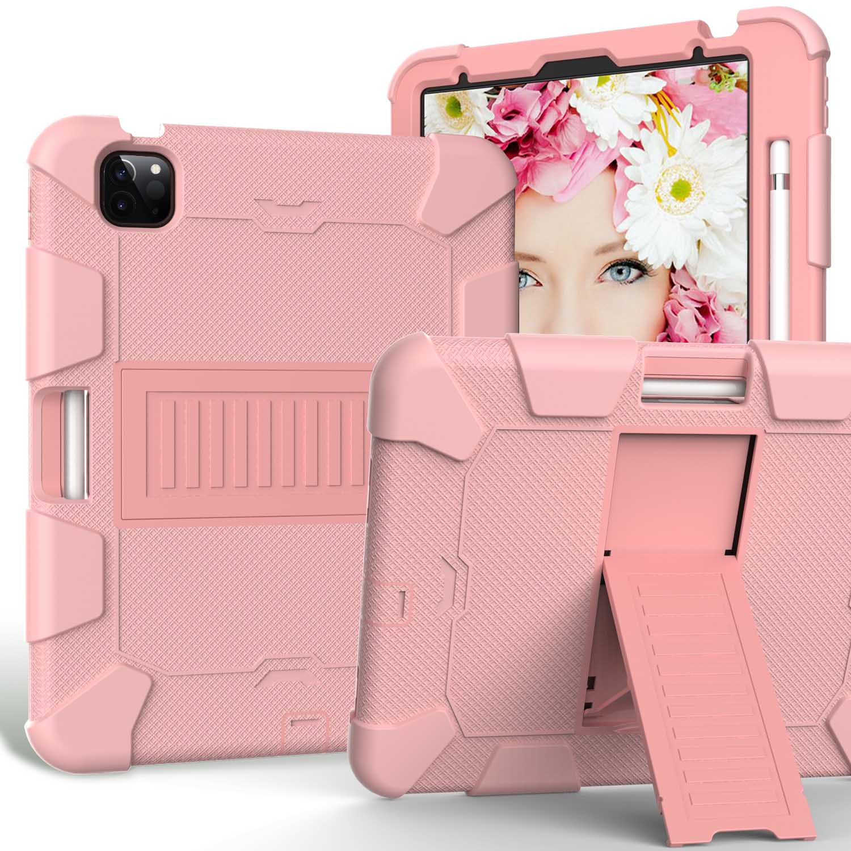 11 Orange Kids Tablet Case for iPad Air 4 10 9 inch 2020 Heavy Duty Hybird Shockproof PC