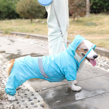 Jacket Raincoat Poncho Hood Pet-Dog Dogs Windproof Small Blue with Lightweight Pet-Supplies