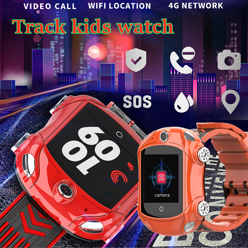 4G Children Watch GPS WIFI Remote Monitoring Video Chat Waterproof Camera SIM Card SMS GPS Positioning Track Girl Boy Clock DF53