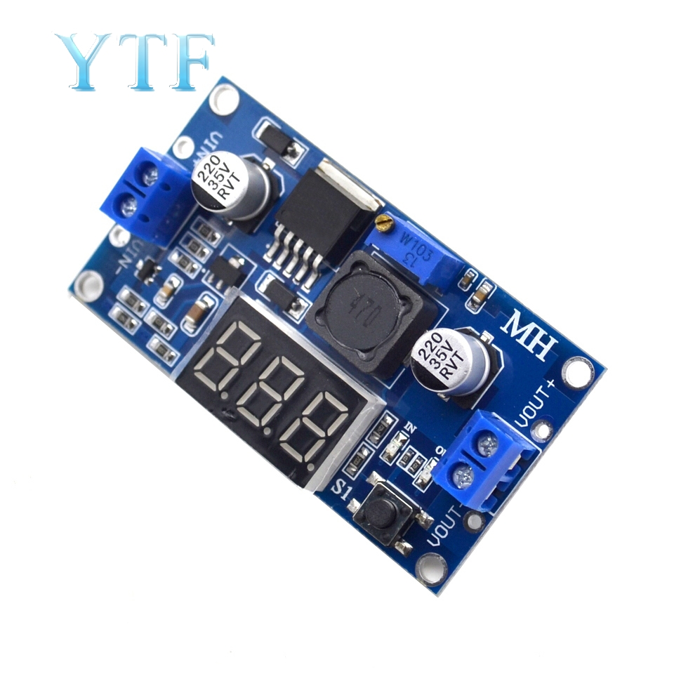 LM2596 DC-DC Adjustable Step-down Module With Digital Voltmeter Display LM2596S Regulated Power Supply Module