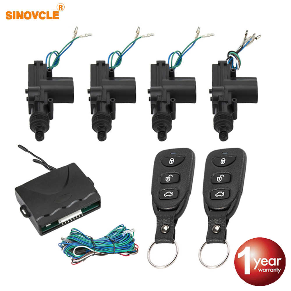 Auto Lock Deur Afstandsbediening Keyless Entry System Locking Kit Met 4 Deurslotaandrijving Universele 12V