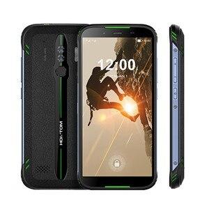 """Image 5 - Original homtom ht80 ip68 à prova dlágua smartphone 4g lte android 10 5.5 """"18:9 hd + mt6737 nfc carga sem fio sos telefone móvel"""