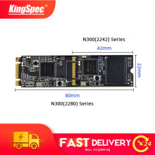KingSpec M.2 SATA 2 TB SSD 64 GB 128 GB 256 GB 2242 Mm NGFF SSD 512 GB 1TB n300 Series 2280 Mm M2 SATA NGFF HDD untuk Laptop Desktop PC(China)