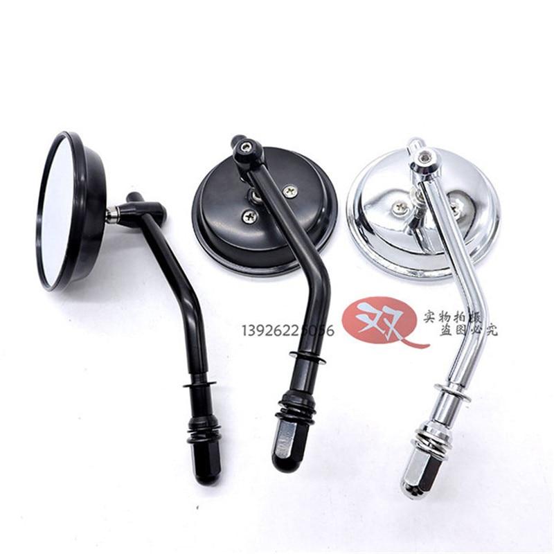 Metal CNC Silver Black Motorbike Rearview Mirror For Kawasaki Honda Suzuki Benelli Vespa Yamaha Harley Motorcycle Accessories