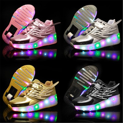 Children Sneakers Roller Skate Shoes Kids Sneakers With Wheel Boys Girls Wheels Shoes Adult Casual Boys Glowing Shoes