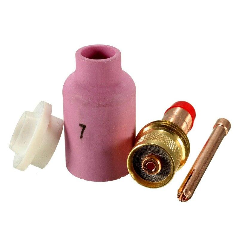 4Pcs/Set TIG Gas Lens KIT Size 3/32