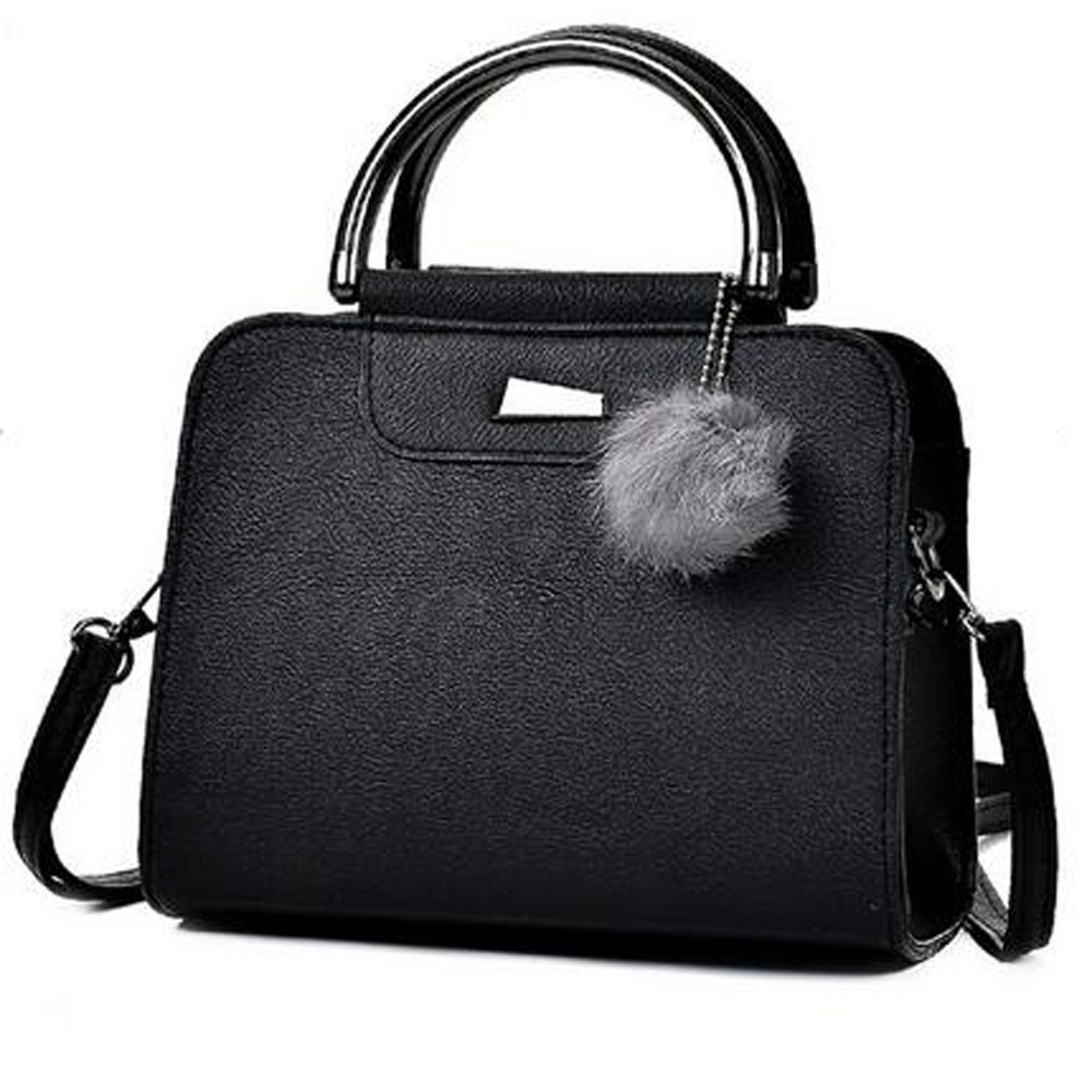 Women Bags Shoulder-Crossbody-Bag Fur-Ball Female Bolsa-Feminina Ladies Brand Designer title=
