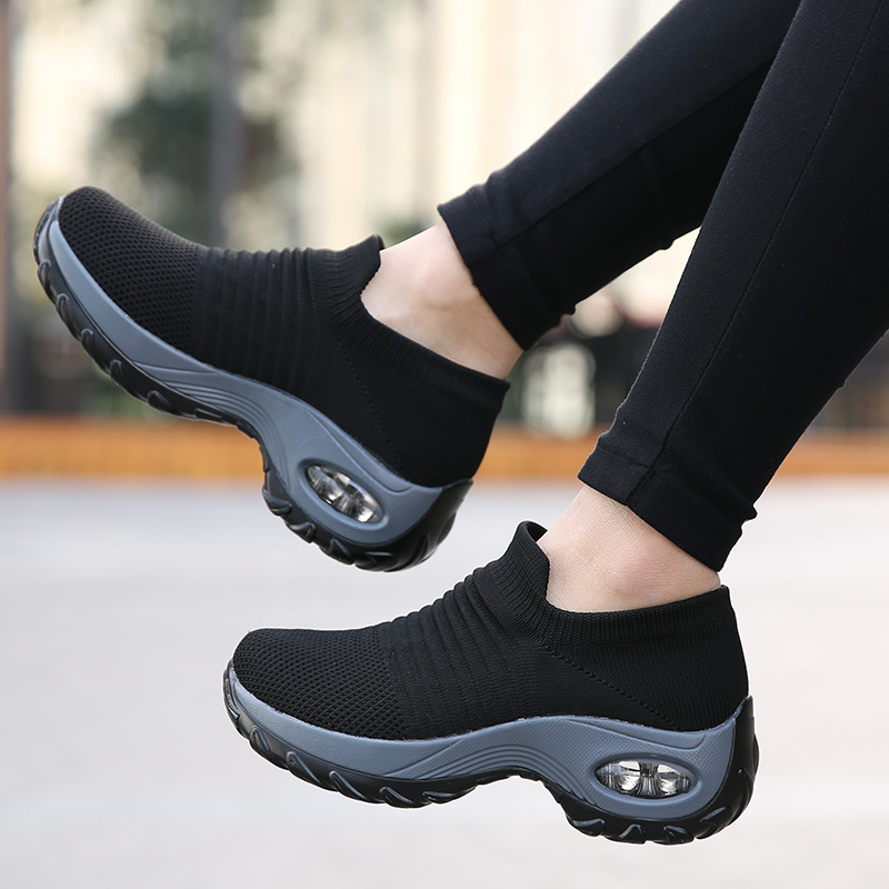 Newest Women's Running Shoes Socks Sneakers Athletic Woman Sports Shoes Ladies Walking Shoes Soft Light Outdoor Zapatillas Mujer