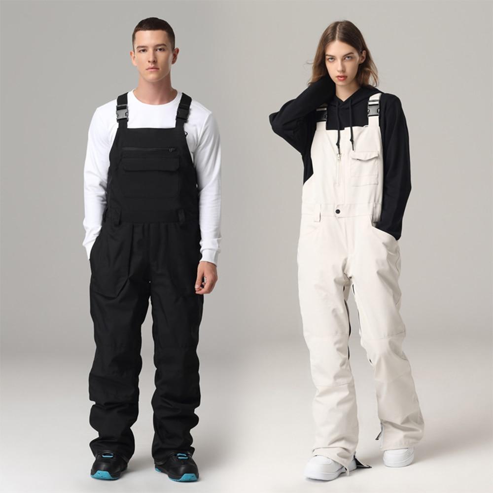 2021 New Ski Suit Women Ski Suit Outdoor Snowboard Pants Men Overalls Siamese Ski Suit Suspenders Ski Pants Windproof Waterproof