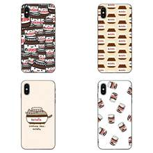 For Huawei nova 2 2S 3i 4 4e 5i Y3 Y5 II Y6 Y7 Y9 Lite Plus Prime Pro 2017 2018 2019 Special Luxury Phone Case Food Nutella(China)