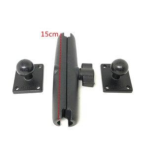Image 4 - Jadkinsta Base de boule en aluminium Combo Double douille bras socle de montage carré avec ampères modèle de trou pour Garmin pour TomTom GPS
