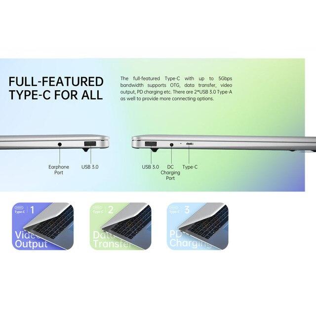 ALLDOCUBE VBook 13.5 inch Notebook Intel Apollo Lake Processor 8GB RAM 256GB SSD Windows10 Laptop 3000*2000 IPS 4