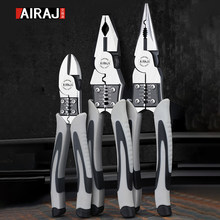 AIRAJ 9'' Multi Function Pliers Set Combination Pliers Stripper Crimper Cutter Heavy Duty Wire Pliers Diagonal Pliers Hand Tools