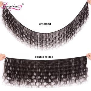 Image 2 - Longqi Hair 말레이시아 바디 웨이브 번들 30 인치 인간 헤어 익스텐션 위브 헤어 1 3 4 번들 Natural Black Virgin Hair Bundles