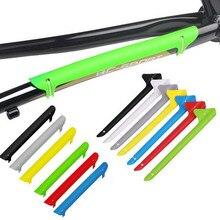 1pc peças de equitação da bicicleta quadro corrente coverr bicicleta quadro corrente garfo traseiro chainstay protector acessórios da bicicleta plástico colorido