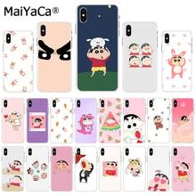 Funda para teléfono MaiYaCa animación japonesa divertida crazu Nowara Shinnosuke para iphone 11 pro 8 7 66S Plus X XS MAX 5S SE XR(China)