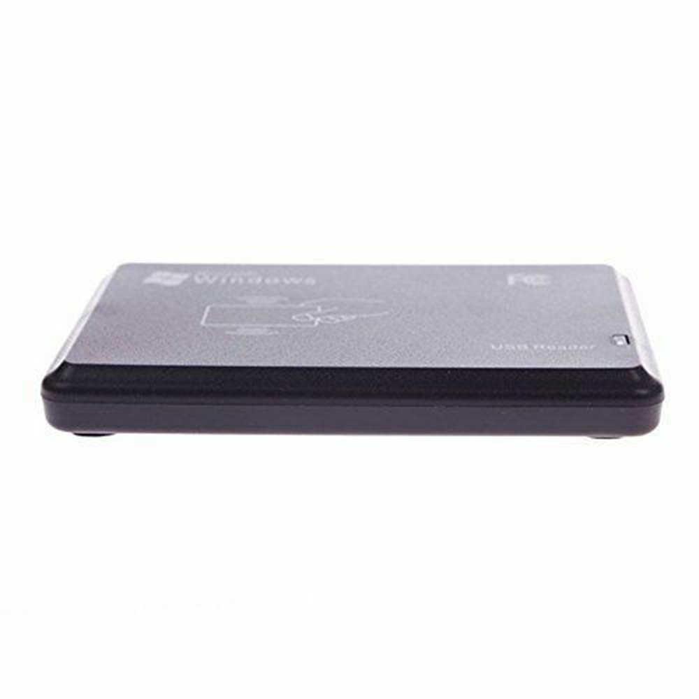 Goede Verkoop RFID Reader Usb-poort EM4100 TK4100 125khz ID Contactloze Gevoeligheid Smart Card Ondersteuning Window Systeem Linux