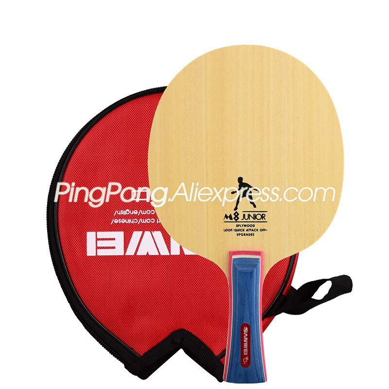 SANWEI M8 Table Tennis Blade (5 Ply Wood, Free Round Bag & Edge Tape) SANWEI Racket Ping Pong Bat