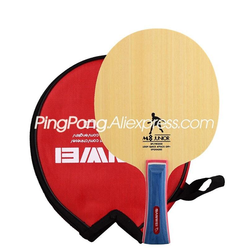 SANWEI M8 Table Tennis Blade (5 Ply Wood, Free Round Bag & Edge Tape) SANWEI Racket Ping Pong Bat