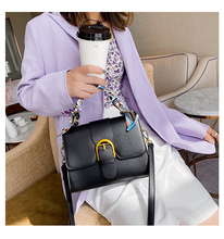 Women design Handbag Small 2020 New Female Silk scarf Shoulder Bag Square Youth Daily PU Flip Bags