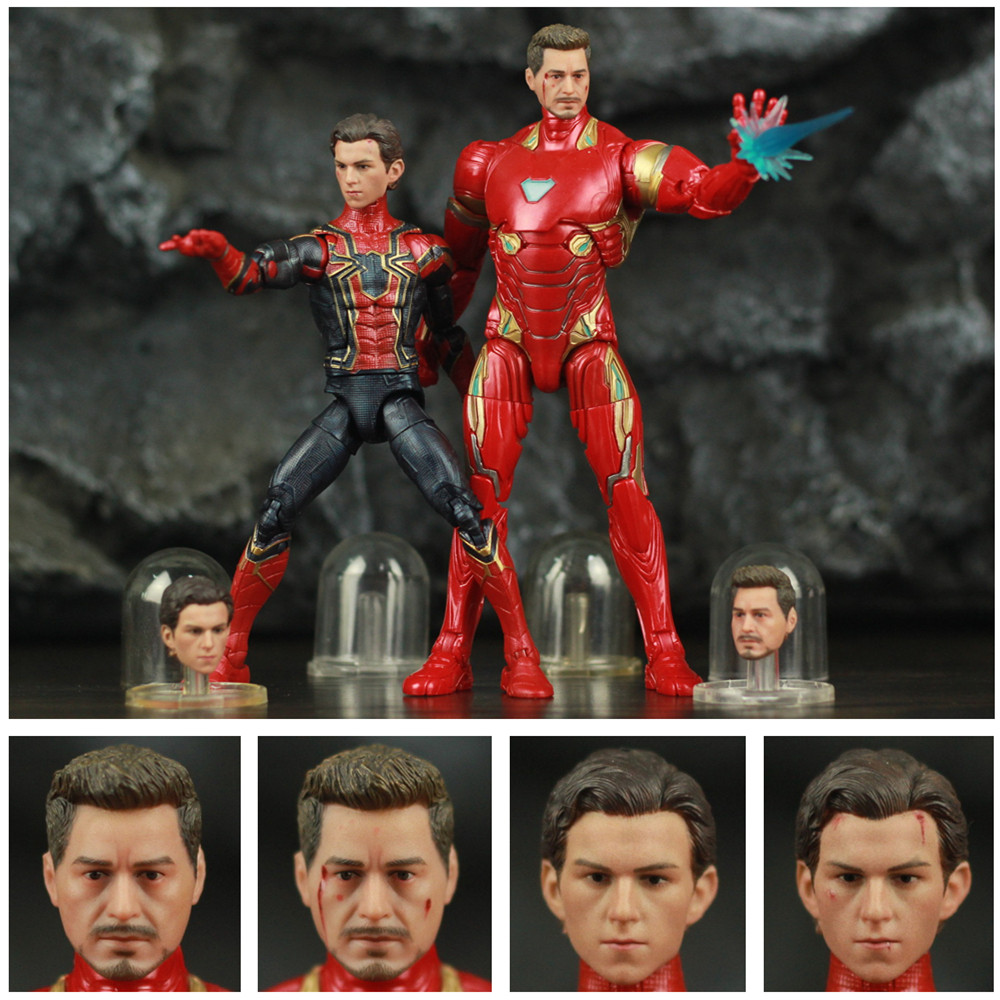 1/12 Carving Head Ironman Tony Stark & Spiderman Tom Holland 6